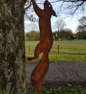 Schroef eekhoorn rennend 45 x 12 cm
