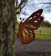 Schroef vlinder 30 x 15 cm